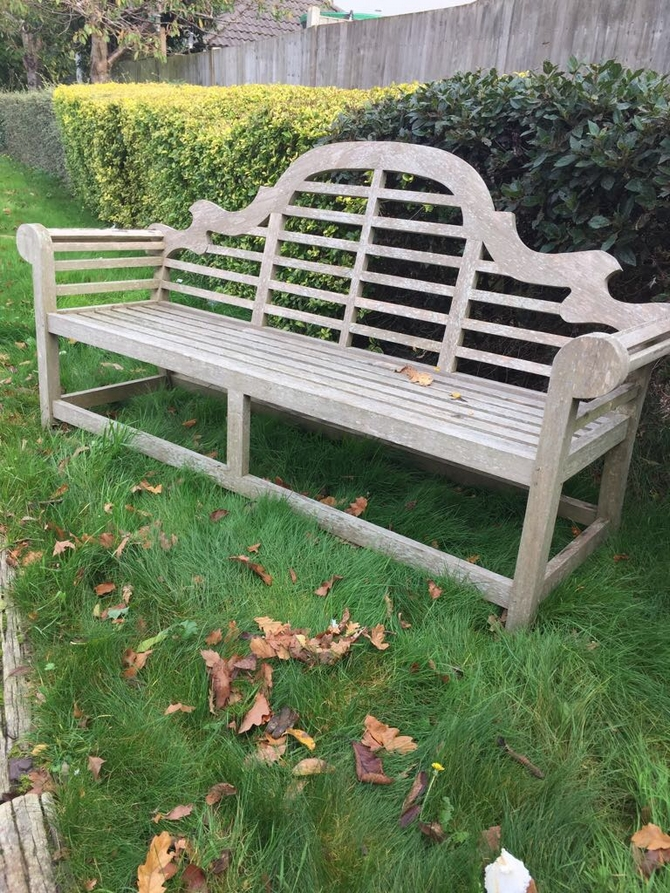 Large Teak Lutyens Bench