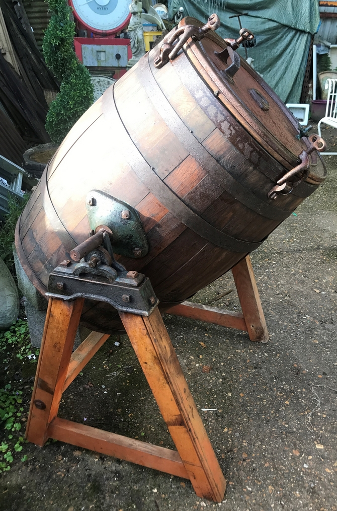 Vintage 130L Oak Barrel Butter Churn