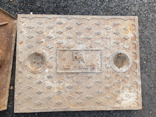 Salvaged Cast Iron Manhole/Inspection Cover 657 x 508mm