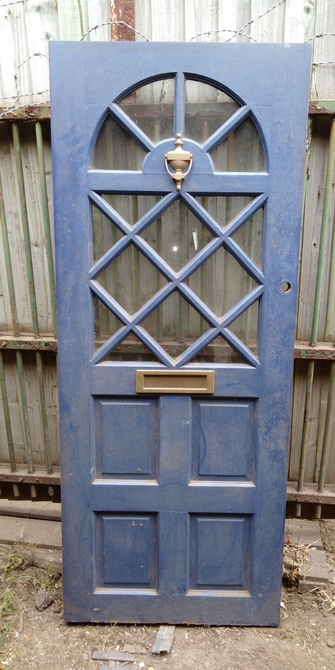 Reclaimed Half Glazed Front Front Door