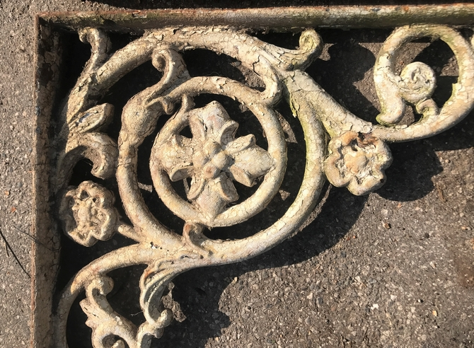 Pair of Large Ornate Cast Iron Brackets