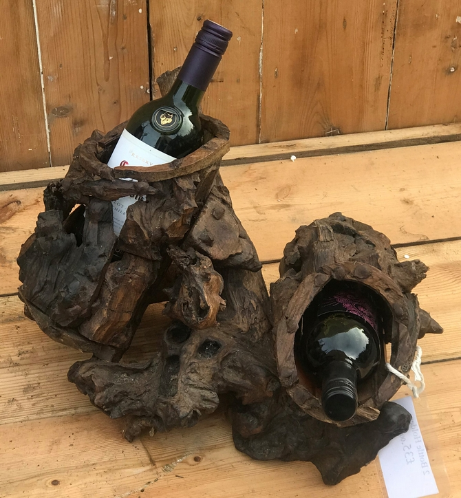 Driftwood 2 Bottle Wine Holder
