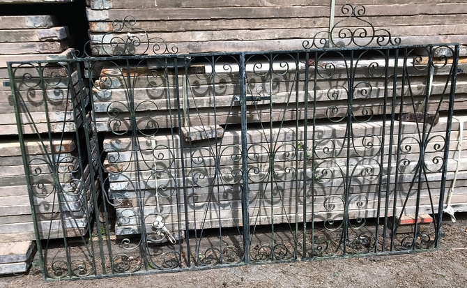 Decorative Reclaimed Wrought Iron Gates L: 237 x H: 144 cm