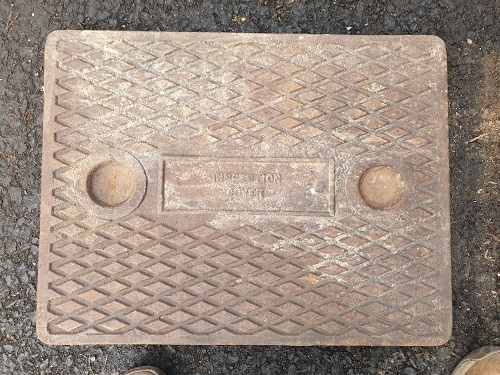 Salvaged Cast Iron Manhole/Inspection Cover 642 x 490mm