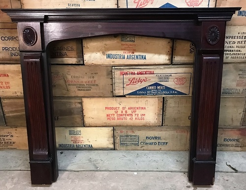Original Decorative Oak Wooden Fire Surround