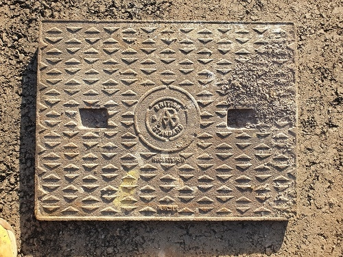 Salvaged Cast Iron Manhole/Inspection Cover 630 x 505