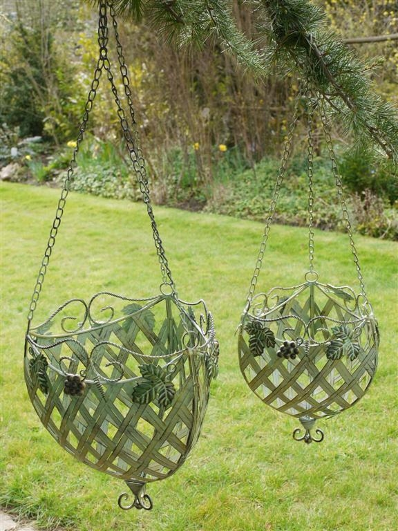 Set Of 2 CHO Hanging Baskets