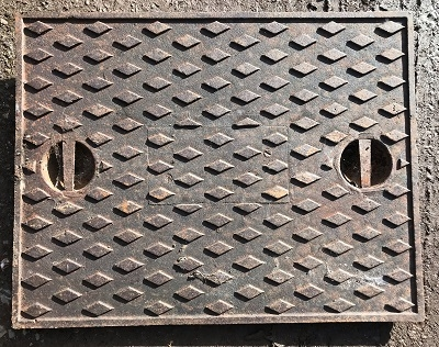 Salvaged Cast Iron Manhole/Inspection Cover 666 x 517