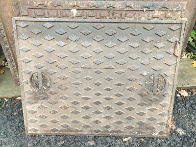 Salvaged Cast Iron Manhole/Inspection Cover 656 x 506