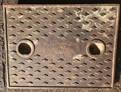 Salvaged Cast Iron Manhole/Inspection Cover 650 x 500