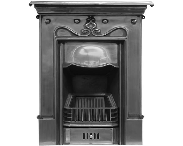 Tulip Cast Iron Combination Fireplace Polished