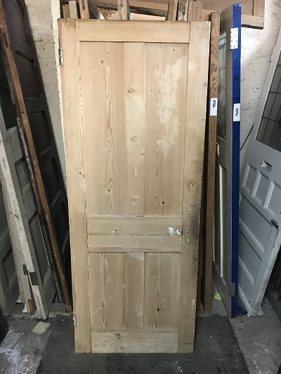 Reclaimed Stripped 4 panel Door