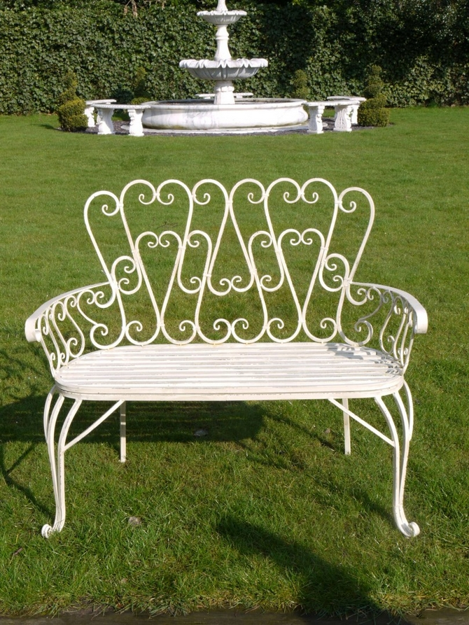 Bench (Antique White) 2437