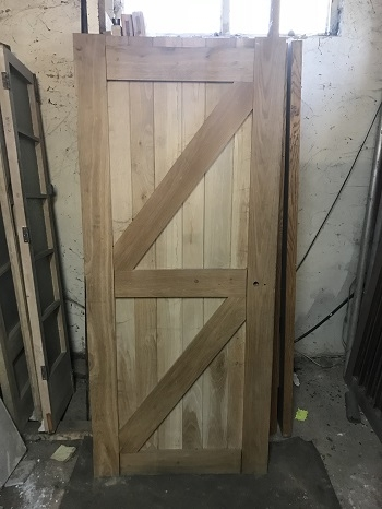 Reclaimed Solid Oak Ledge & Brace Door