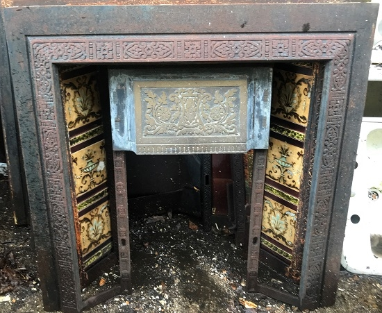 Reclaimed Decorative Cast Iron Insert
