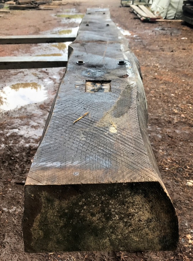 Reclaimed Oak Beam 291 x 23 x 12 cm