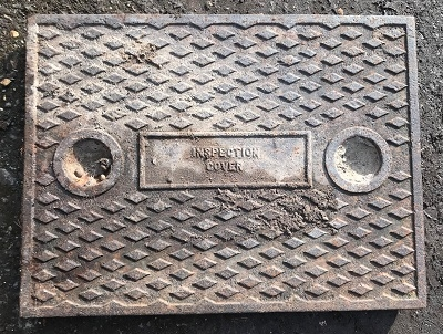 Salvaged Cast Iron Manhole/Inspection Cover 644 x 494