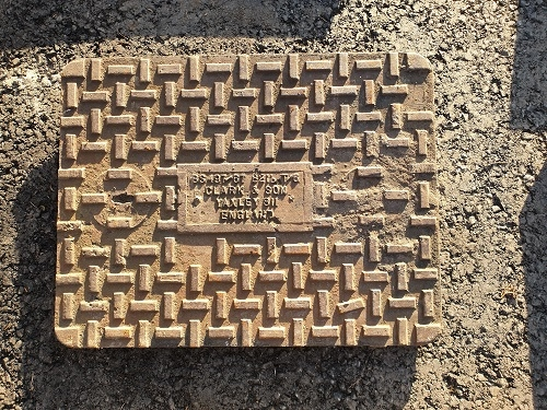 Salvaged Cast Iron Manhole/Inspection Cover 654 x 502