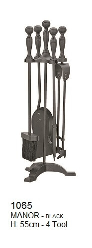 Manor Fireside Companion Set Black 22