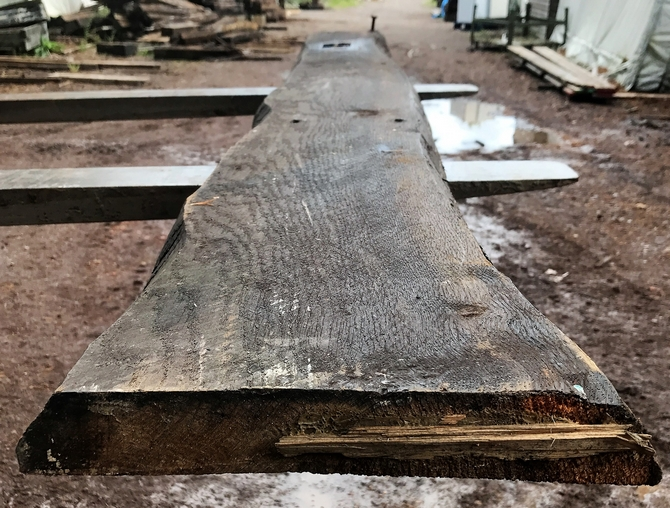 Reclaimed Oak Beam 210 x 30 x 5cm