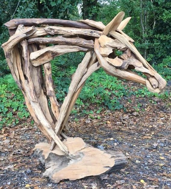 Driftwood War Horse Head