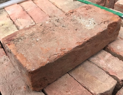 Reclaimed Imperial Handmade Red/Orange Bricks 120 x 240 x 55mm
