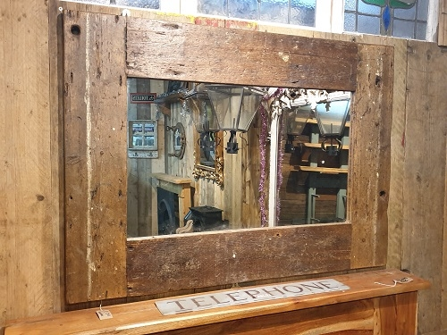 Bespoke Reclaimed Timber Framed Mirror