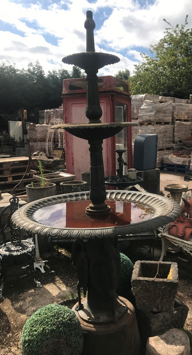 3 Tier Cast Iron Fountain