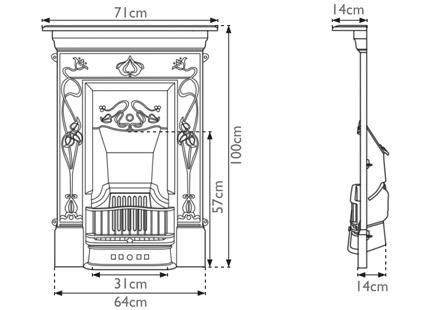 Crocus Cast Iron Combination Fireplace
