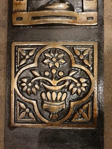Pair of Reproduction Decorative Cast Iron Panels
