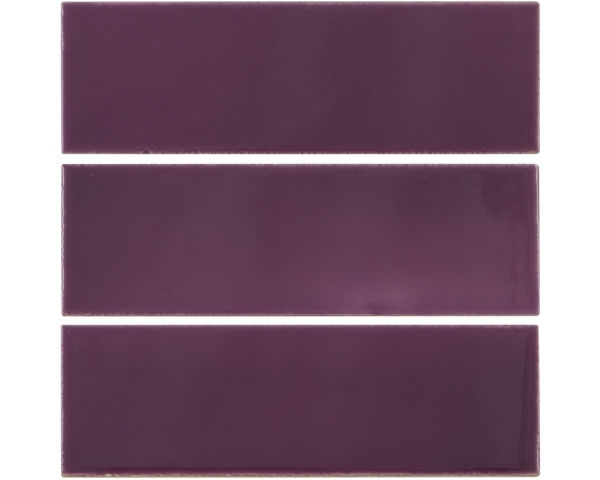 Set of 6 1/3 Dark Purple Tiles