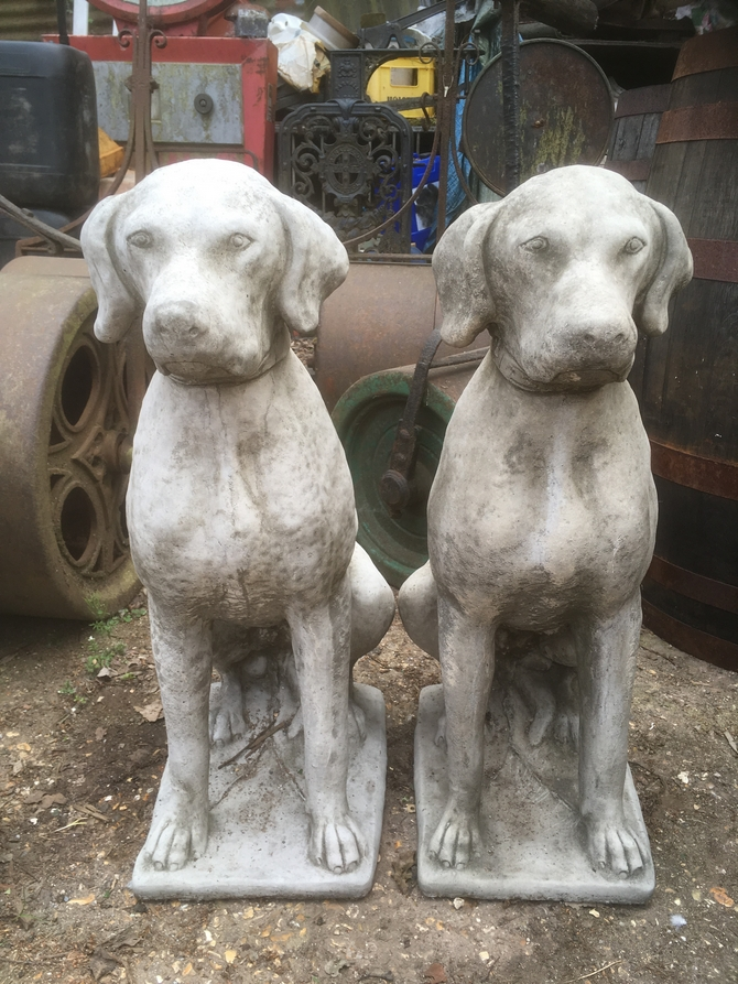 Pair of Hunting Dogs Statue