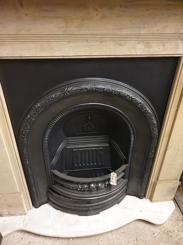 Reproduction Solid Fuel Cast Iron Insert Fireplace