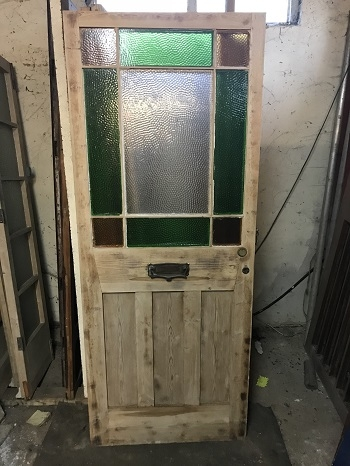 Reclaimed Colour Glazed Stripped Door