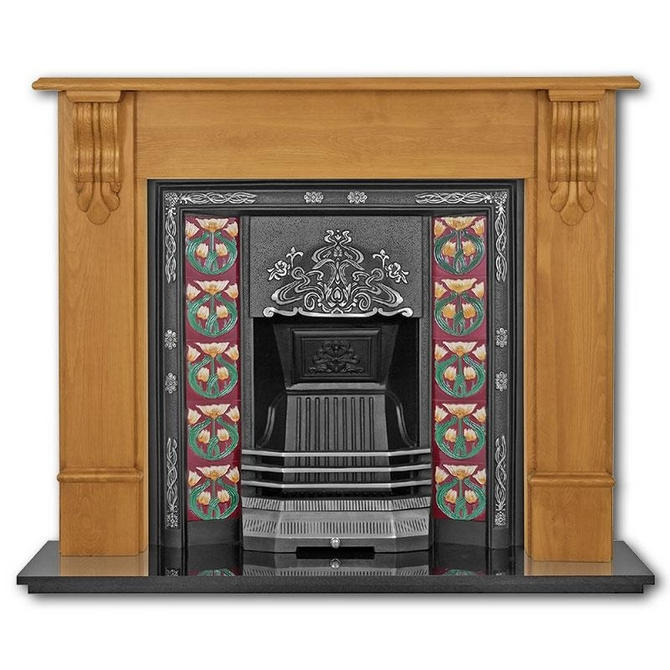 The Daisy Cast Iron Fireplace Insert by Carron