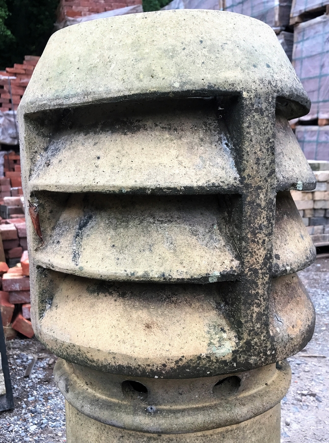 Reclaimed Buff Louvre Chimney Pot