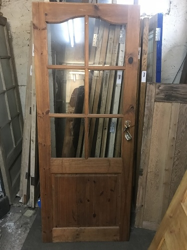 Reclaimed Glazed Stained Door