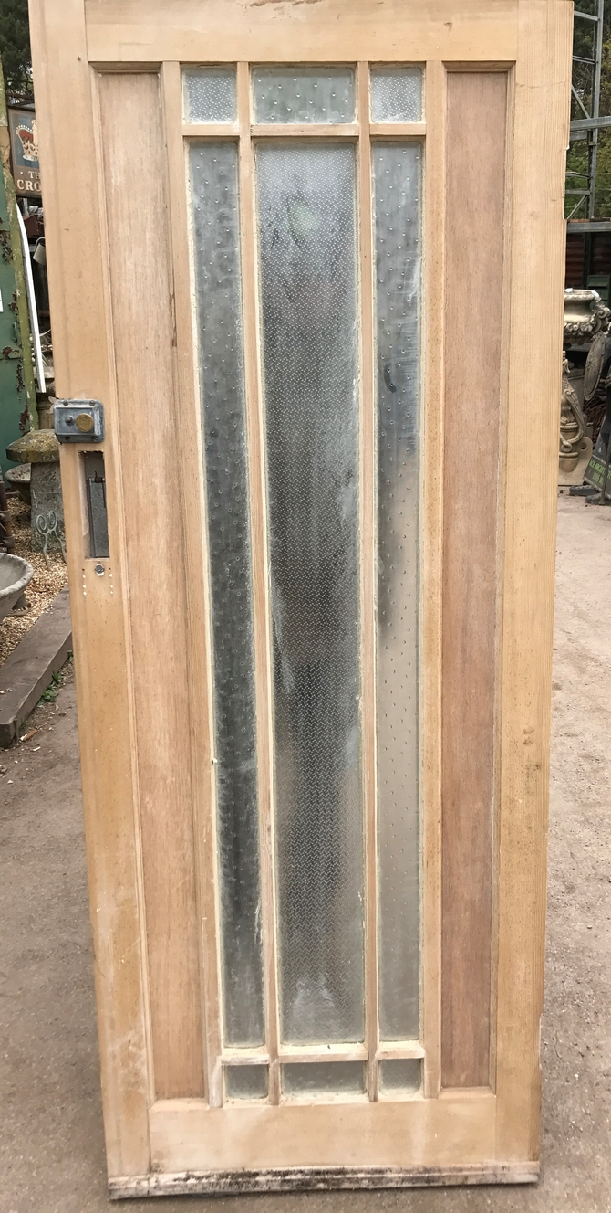 Solid Pine Front Door Period Wood Reclaimed Rustic Antique Old Art