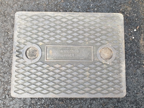 Salvaged Cast Iron Manhole/Inspection Cover 640 x 490mm