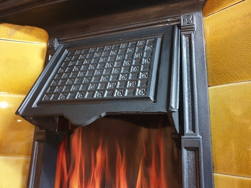 Original Tiled Cast Iron Fireplace