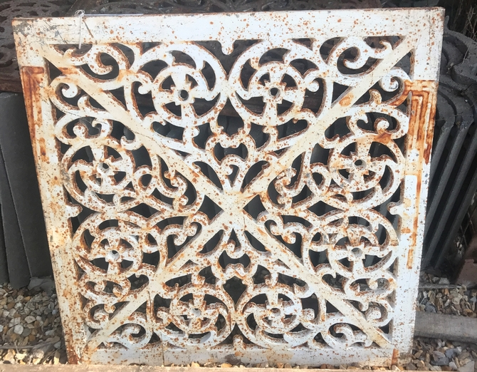Ornate Cast Iron Grate