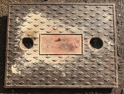 Salvaged Cast Iron Manhole/Inspection Cover 635 x 498
