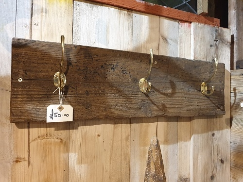Wooden Coat Hanger with 3 Hooks
