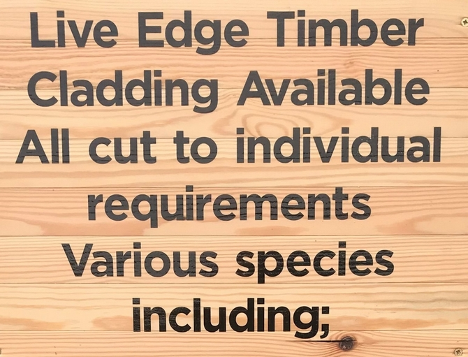 Live Edge Timber Cladding