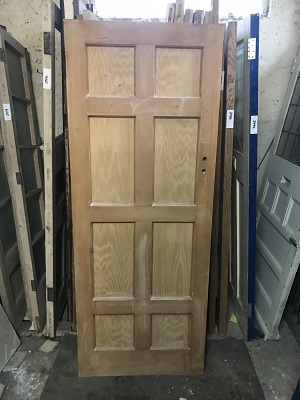 Reclaimed Stripped 8 Panel Door