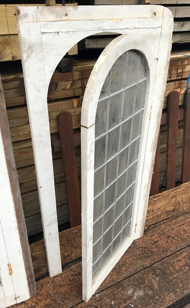 Reclaimed Wooden Arched Window