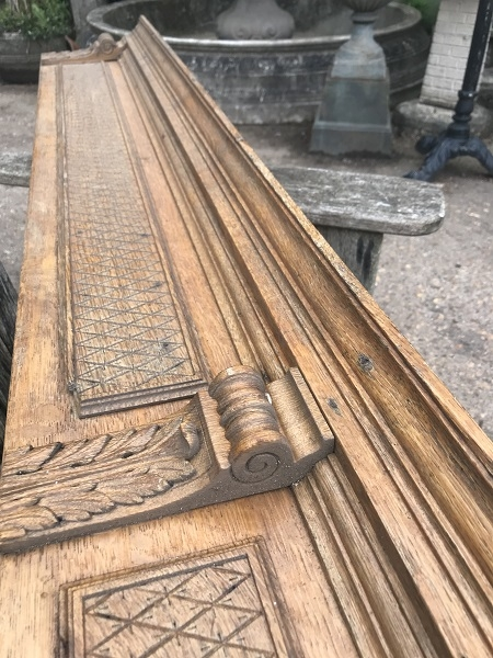 Reclaimed Carved Oak Wooden Decorative Frieze