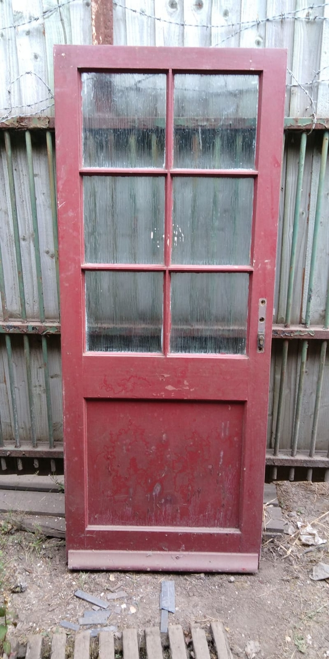 Reclaimed Half Glazed Door