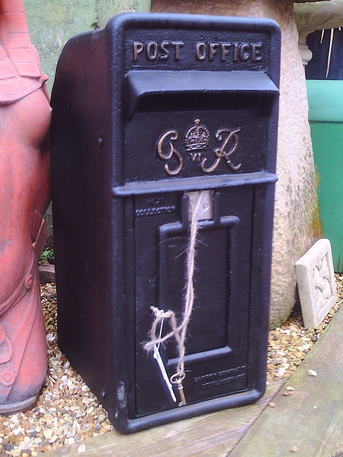 G R Postbox Black AR899