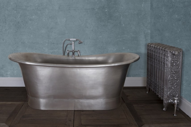 Normandy Copper Bath - Tin Finish